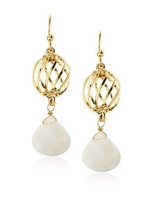 54% OFF Helene Caged Rose Drop Earrings