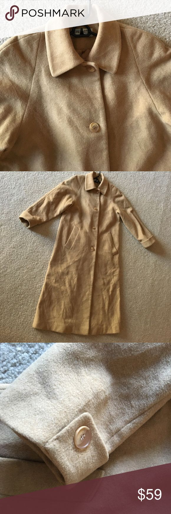 Wool long coat Camel color, very warm, used but in good condition. forecaster of boston Jackets & Coats