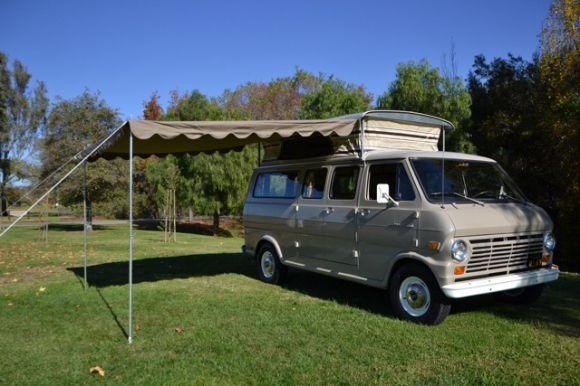 1969 Ford E250 Econoline Pop Top Van
