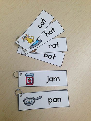 Rhyming rings (or could do word initial or core vocabulary rings)