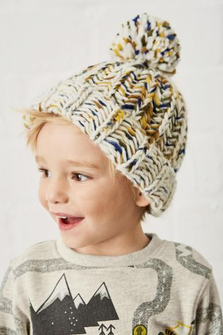 Buy Ecru Pom Beanie (Younger Boys) from the Next UK online shop