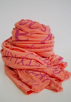 CiCi Bean Spring/Summer 2013 Collection for tween girls - CiCi Bean Scarf in Peach | Available at www.peekaboobeans.com