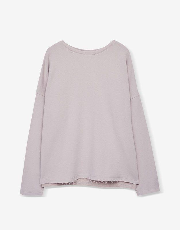 Piped seam sweatshirt - Basics - Sweatshirts - Clothing - Woman - PULL&BEAR Ukraine