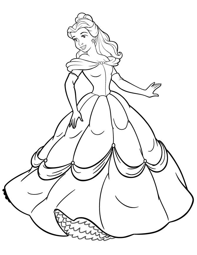 Disney Princess Coloring Pages Free Printable H M Beauteous