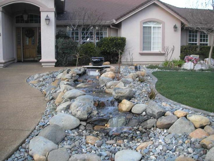 138 best images about outdoor stone landscaping ideas on for Cheap landscaping