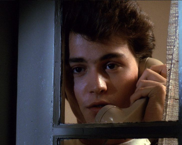 Johnny in A Nightmare on Elm Street....this picture is so funny and adorable at the same time.