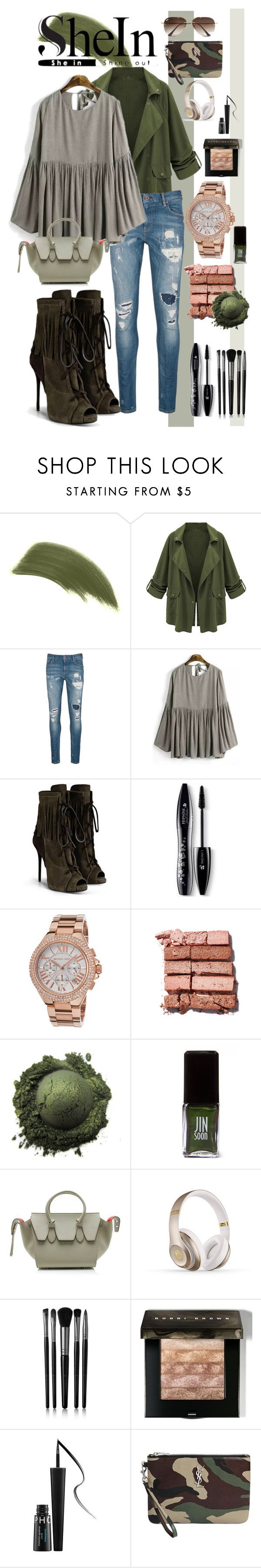 SheIn Chic by avericleanstyle on Polyvore featuring #celine, #YvesSaintLaurent, #MichaelKors, #RayBan, #Scotch&Soda, #ByTerry, #BobbiBrownCosmetics, #Lancome, #Illamasqua and #SephoraCollection