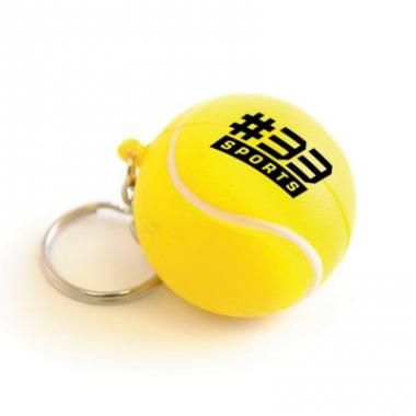 Promotional Stress Tennis Ball Keyring - Printed :: Promotional Tennis Balls :: Promo-Brand Promotional Merchandise :: Promotional Branded Merchandise Promotional Products l Promotional Items l Corporate Branding l Promotional Branded Merchandise Promotional Branded Products London