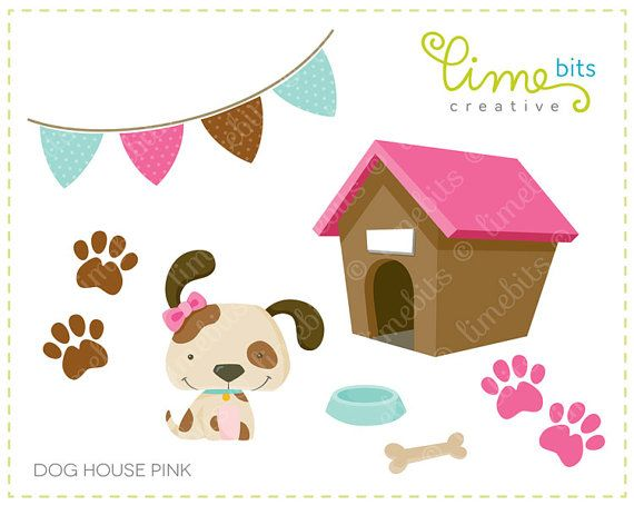 clipart of dog houses - photo #23