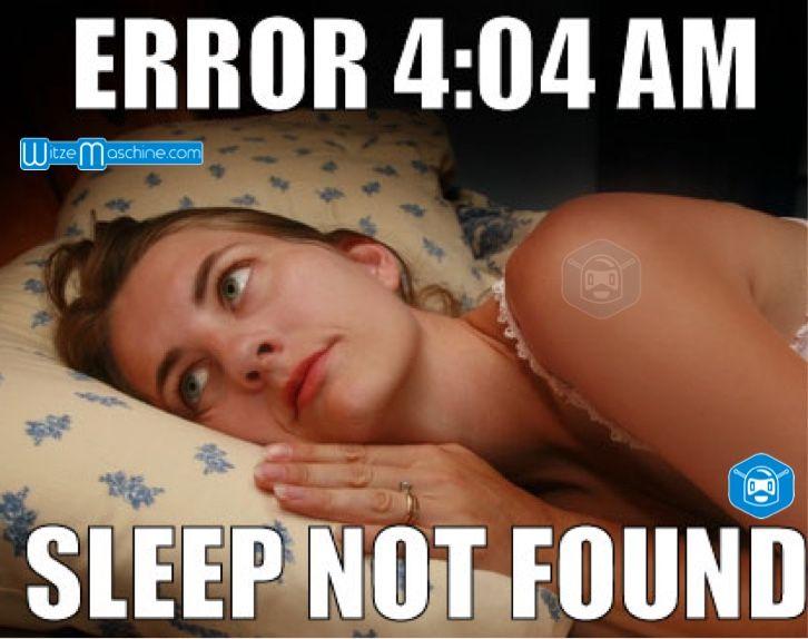 Gute Nacht witzig- Nicht einschlafen können - 404 Error