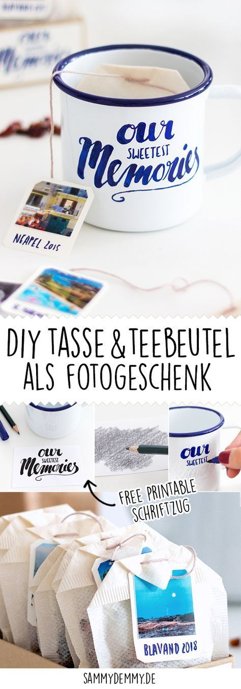 DIY Tasse und Teebeutel als Foto-Geschenk – Geschenke. DIY