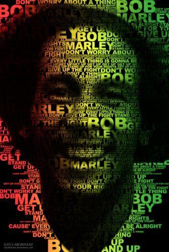 BOB MARLEY - Typografi Copyright: ABCDEFUCKZ ©20... - Album Photo | ZULQARNAIN A.S