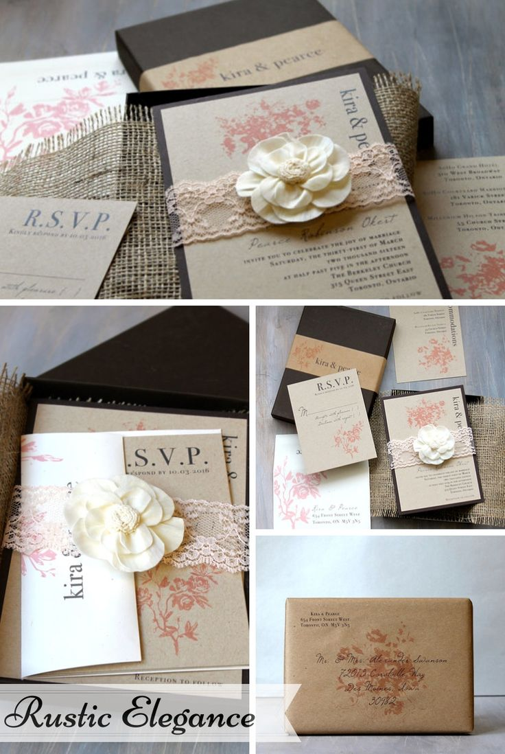Beacon Lane Wedding Stationery -  Rustic elegance
