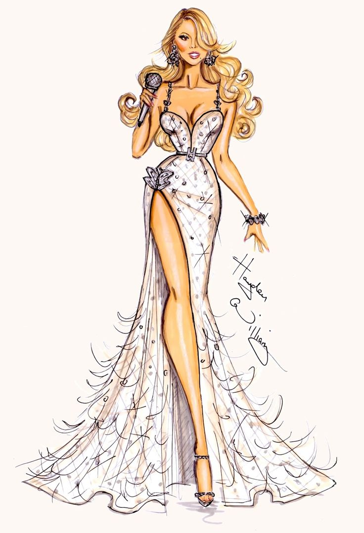 Gorgeous! Mariah Carey by Hayden Williams. #fashion #sketch