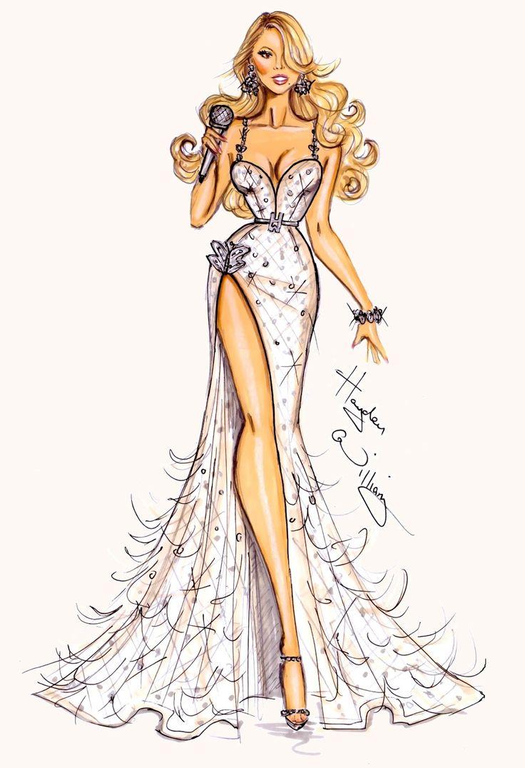 #Hayden Williams Fashion Illustrations: #Mariah Carey by Hayden Williams