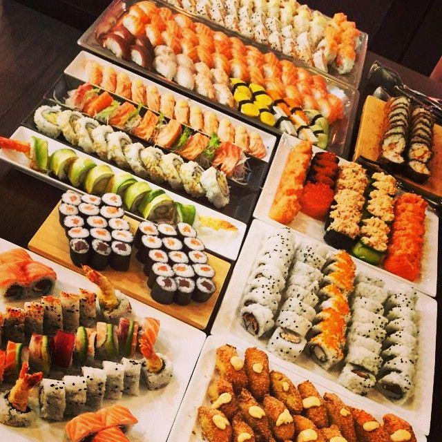 Some of my favorite types of rolls| Futo Maki, Tuna Rolls, Nigiri, Salmon