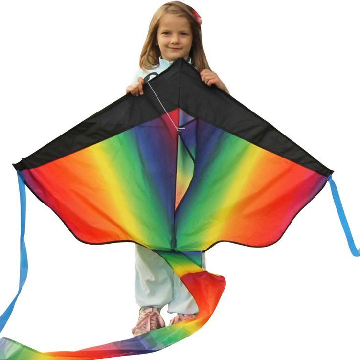 Huge Rainbow Kite - 43-inch Wingspan – Beginner Kites For Sale – Floats In The Breeze Rainbow Kite