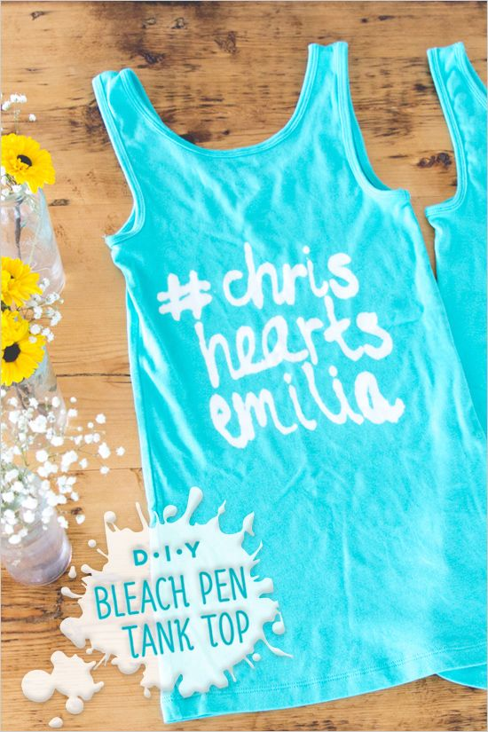 DIY Bleach Pen Tank Top