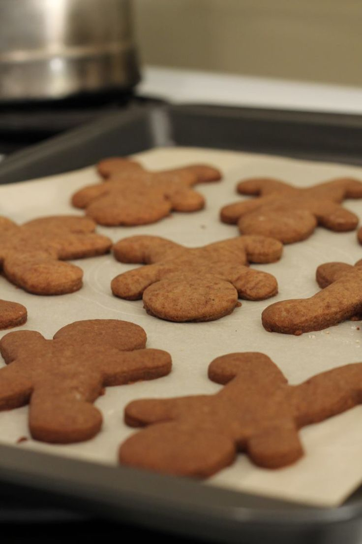 Here are my sugar free gingerbread cookies all done and laid out on a cookie tray.