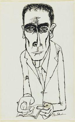 Ben Shahn. Dr. J. Robert Oppenheimer. (1954)