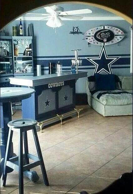 Dallas cowboys this would be a perfect finished basement for Dallas cowboy bedroom ideas