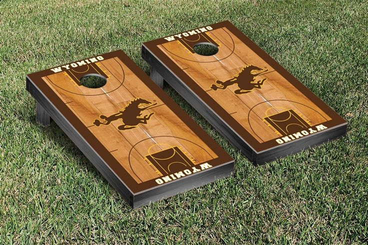 Wyoming Cowboys Basketball Court Cornhole Game Set