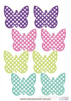 Schmetterlinge für Strohhalme / Butterflies for Paperstraws - free Printable