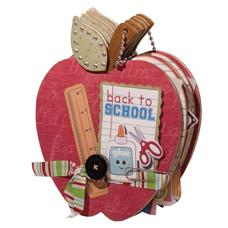 Back to School Mini Album school Using Imaginisce Geek is Chic Collection - Scrapbook.com - This is such a cute mini album with the start of school year beginning! #scrapbooking #minialbums #imaginisce