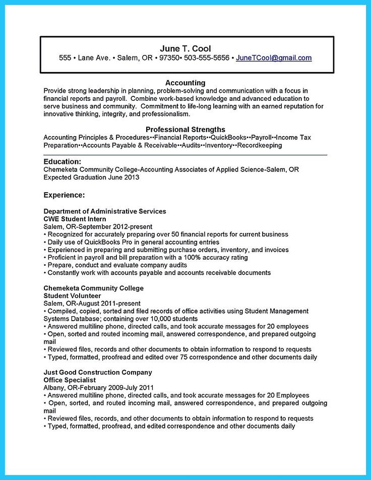 accounting coursework resume Resume guide for accounting students accountancy coursework - completed principles of financial accounting: a principles of managerial accounting: a experience how to build a better resume.