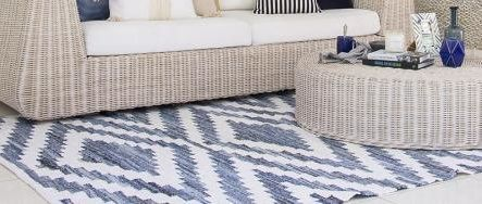 Denim & Cotton Ananya Rug  HOME - BEAUTIFULLY KIND