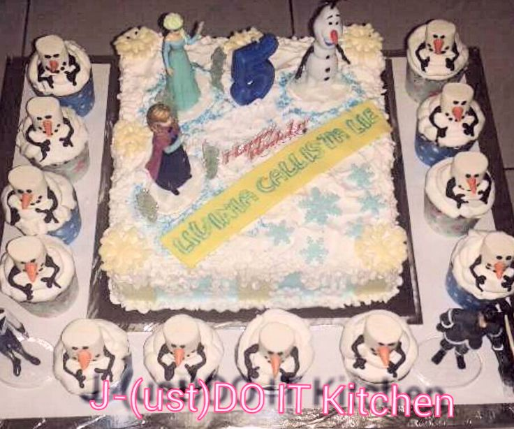 frozen cake birthday