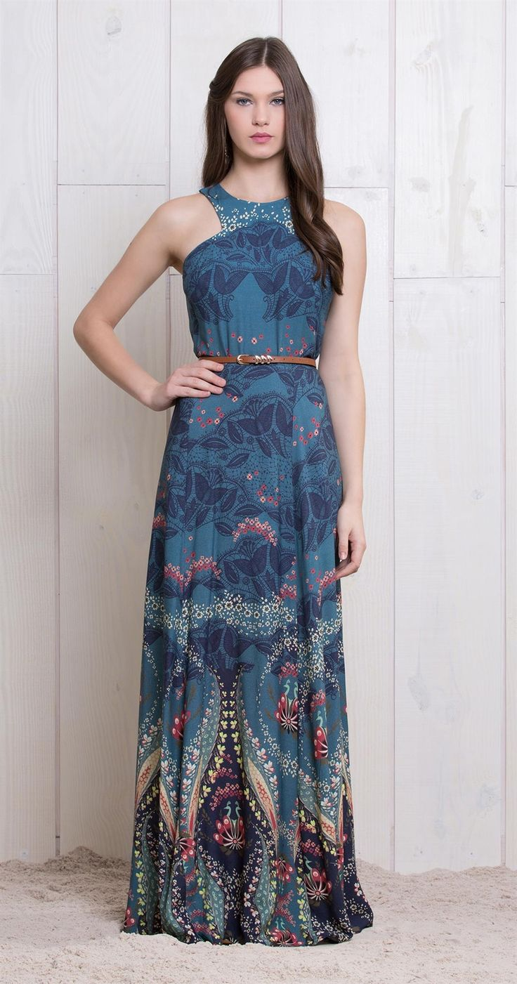 Vestido Longo Com estampa linda - Antix Store                                                                                                                                                                                 Mais