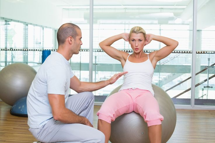 Workout with a trainer