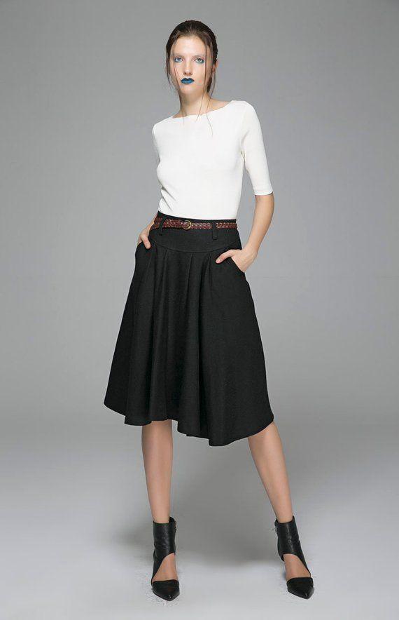 edead2ff015e8 mini skirt wool skirt pleated skirt womens skirts plus