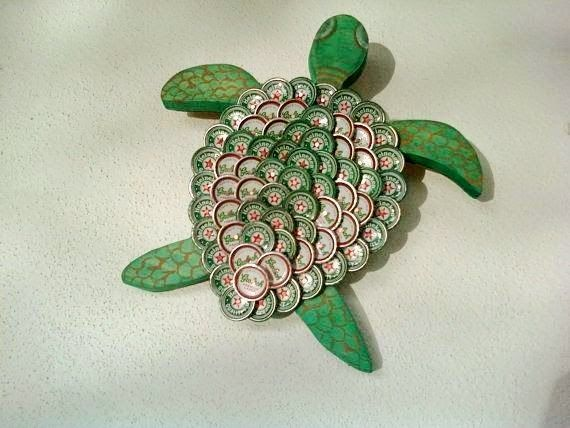 beer bottle cap art projects - Google Search