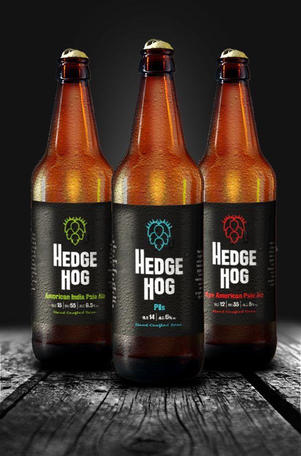 Projekt loga i serii etykiet dla marki piwa rzemieślniczego Hedgehog