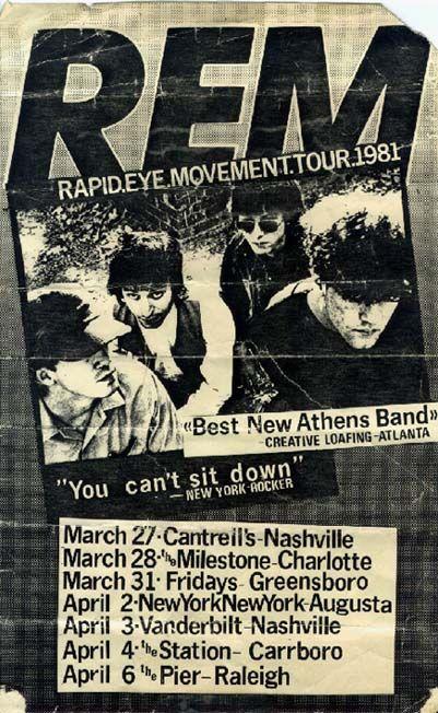 Rapid Eye Movement Tour, 1981