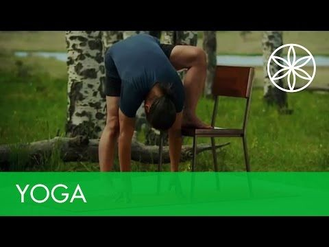 Rodney Yee: Yoga for Energy and Stress Relief - Chair Yoga | Yoga | Gaiam - YouTube
