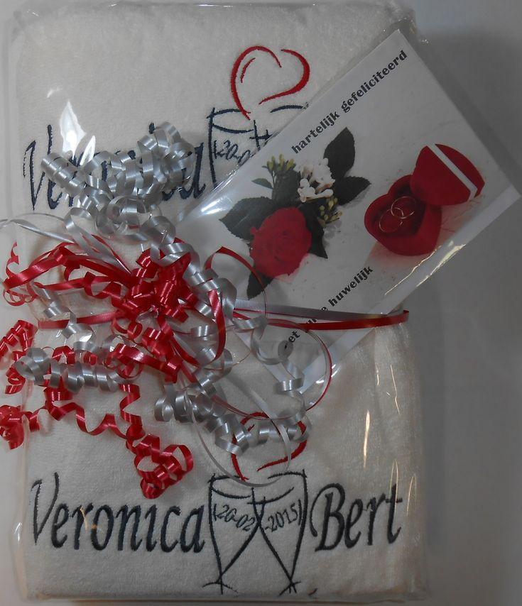 Cadeau bruiloft http://www.borduurkoning.nl/shop