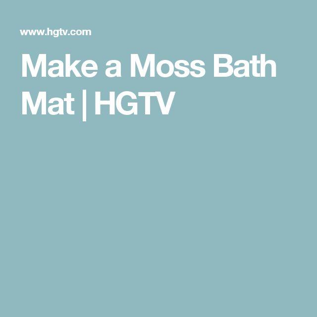 17 Best Ideas About Moss Bath Mats On Pinterest Green