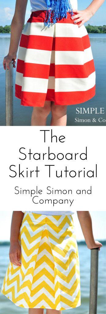 The Starboard Skirt--an easy pleated skirt tutorial