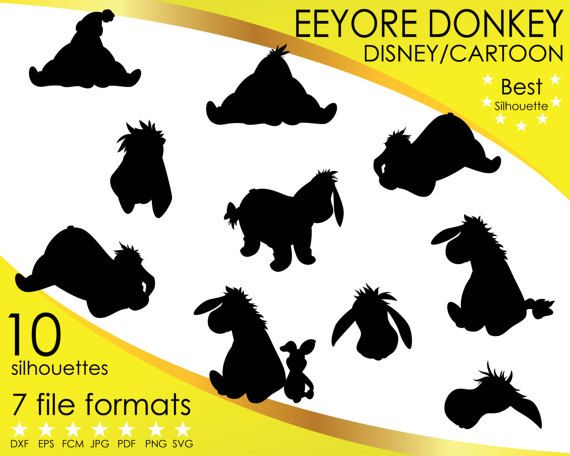 Hey, I found this really awesome Etsy listing at https://www.etsy.com/listing/514958761/10-silhouettes-eeyore-donkey-winnie