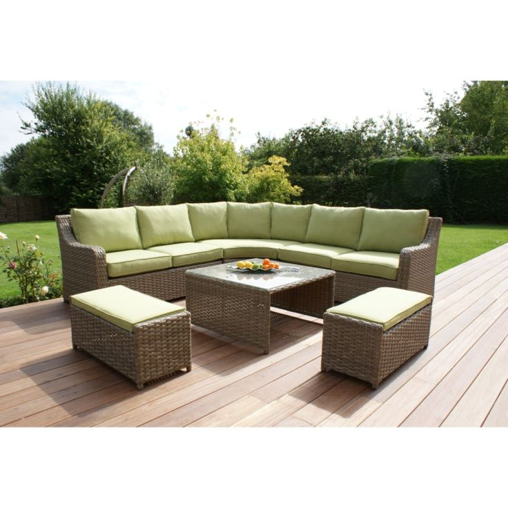 Maze Rattan Milan Corner Sofa Set with Stools Green Cushions Garden  Furniture in Garden   Patio  Garden   Patio Furniture  Furniture Sets. 24 best Rattan Garden Furniture images on Pinterest   Rattan