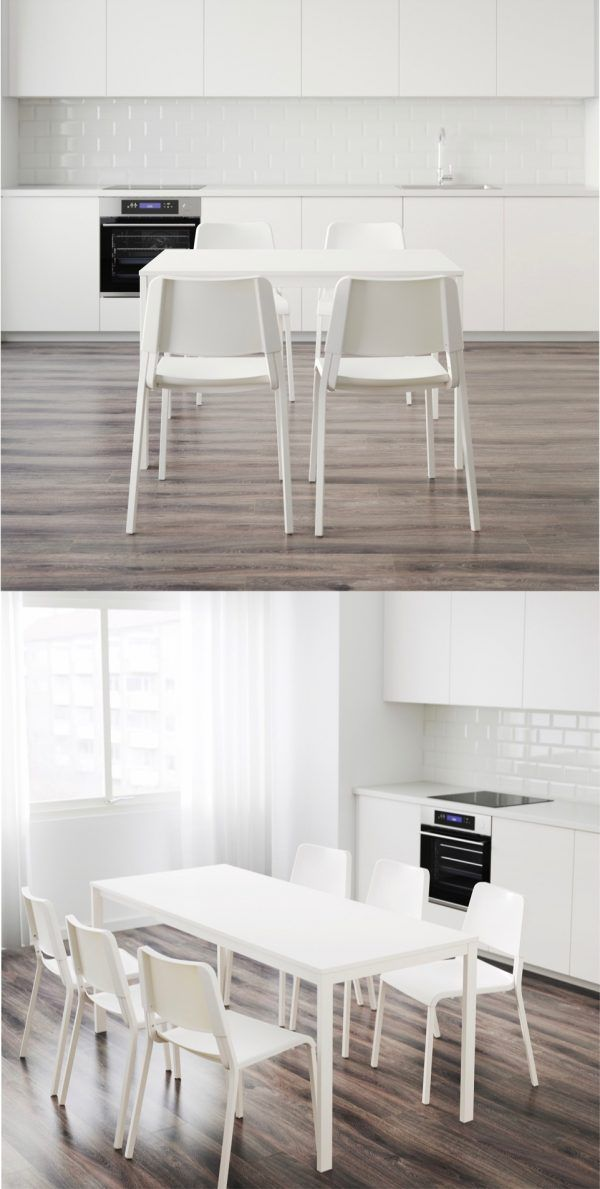Vangsta Extendable Table White 47 1 4 70 7 8x29 1 2 Small Dining Table Simple Dining Table Dining Room Small