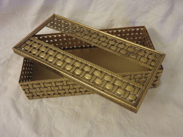 Hollywood Regency Gold Tissue Box, Ornate Tissue Box Holder, Hollywood Regency Decor, Gold Bathroom Accessory, Decorative Tissue Holder by GinnysGirlsTreasures on Etsy