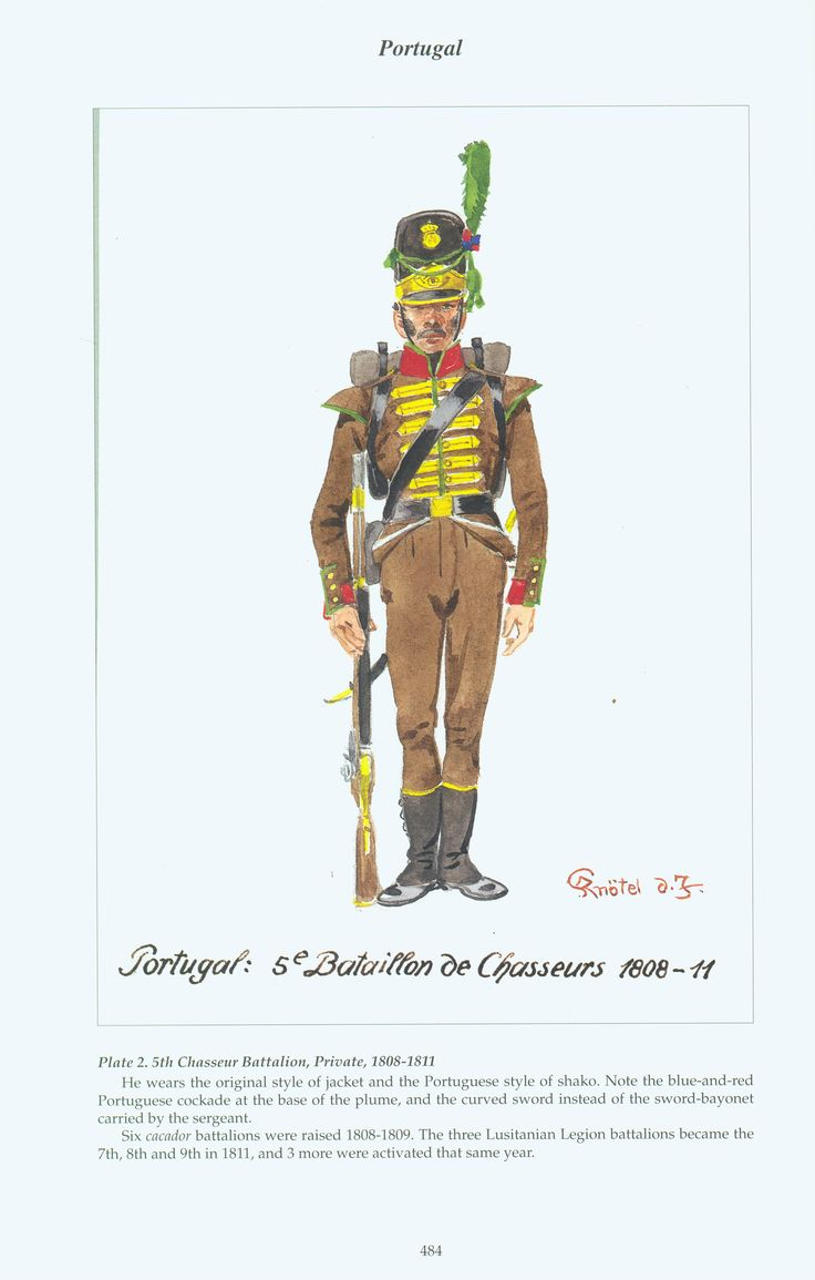 Portugal: Plate 2. 5th Chasseur Battalion, Private, 1808-1811