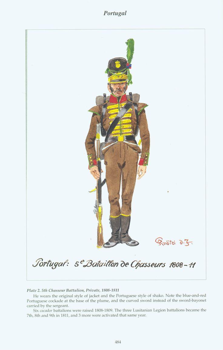 Portugal: Plate 2. 5th Chasseur Battalion, Private, 1808-1811