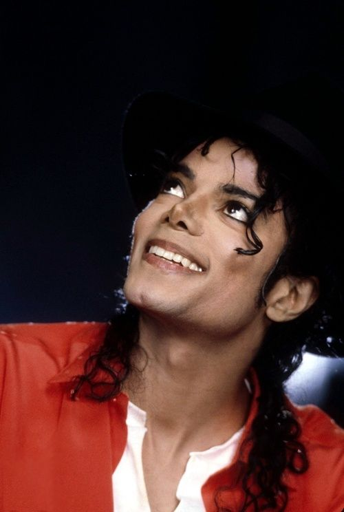 Michael Jackson--this is a wonderful pic of him where he looks genuinely happy.