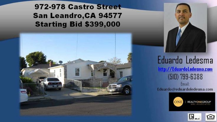 http://ift.tt/1QBYlqW 3 Bedroom 1 Bathrooms homes for sale in 94577 - Call Eduardo at 510-799-6388 - 972-978 Castro St  San Leandro  California 94577. This is a Multi-Family Home with newer exterior stucco  roof & dual pane windows located at 972-978 Castro St  San Leandro  CA. It is a 1651 square foot property that sits on a 6 400 square foot lot with 5 bedrooms and 2.5 bathrooms. (Back unit is 3 bedroom 1 bath in the back while the front unit is a 2 bedroom 1 bath. In addition  the back…