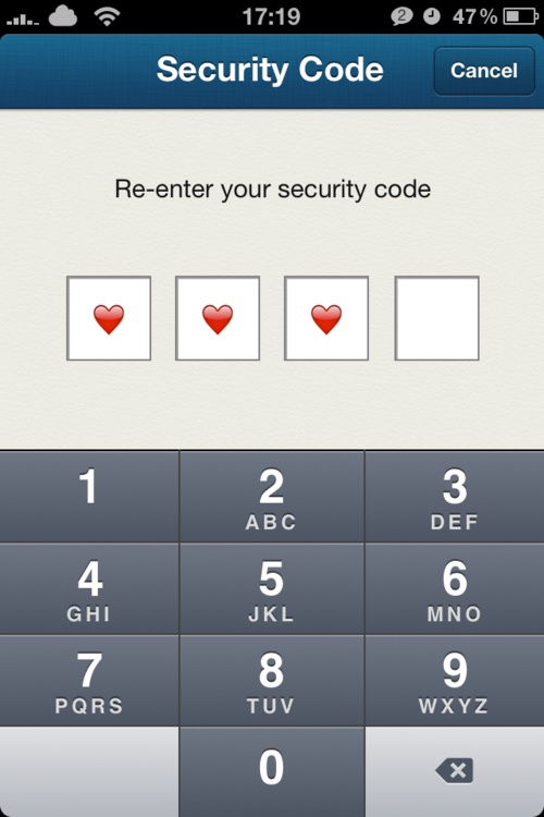 Never too small of an opportunity to add your own style. Pair- When entering a security code, the form shows hearts instead of dots to mask the digits.  /via grmon